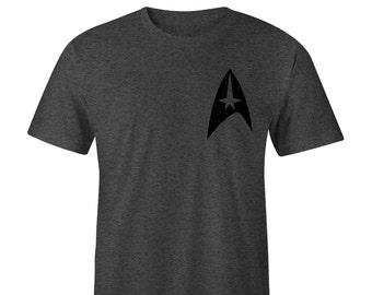 Star Trek T-Shirt Left Chest, Star Trek Tee, Star Trek Shirts Blacked Out Star Trek T-shirts Star Trek Tees Star Trek Shirt Star Trek Beyond