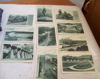 10 Post Cards Views of Scenic & Historical Interest Great Northern Railway  P7