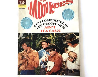 1968 THE MONKEES Rock and Roll Sixties Comic Book Dell