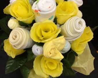 Newborn baby, Flower bouquet, Baby Shower Gift, Hospital Gift, Baby Shower Centerpiece, Baby Girl, Baby Boy