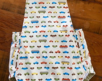 Baby Romper, Baby Boy Romper, Unisex Summer Romper, Vehicle Print Baby Outfit, Baby Gift, Unisex Romper, Buses and Cars, Baby Style