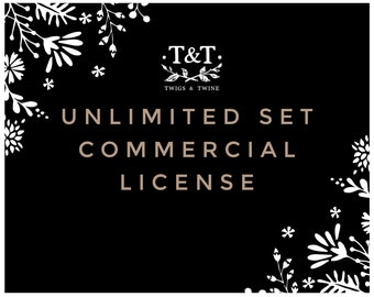 Commercial License - UNLIMITED clipart sets, commercial use