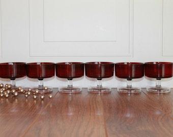 Vintage Arcoroc Glasses, Vintage Champagne Coup, Dessert Glass, Set of 6 Dessert Glass, Minimalist, Barware, French Barware, NEW