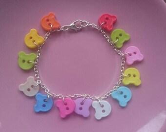 Teddy bear bracelet.
