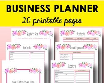 Business Planner Printable, Direct Sales Binder, Business Planning Printable, Direct Sales Organizer Plan, Letter Size, Instant Download