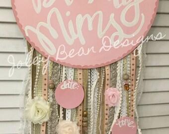 Dreamcatcher Baby Girl Hospital Door Hanger