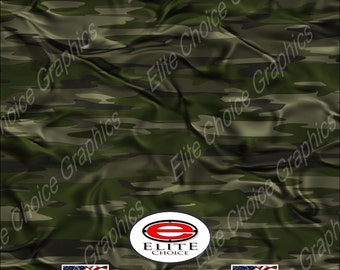 "Traditional Green Cloth Tree Camo 15""x52"" or 24""x52"" Truck/Pattern Print Tree Real Camouflage Sticker Roll or Sheet"