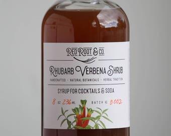 Rhubarb Verbena Shrub