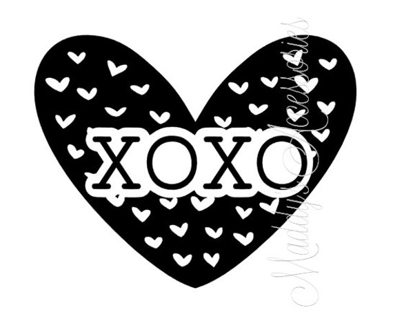 Iron on decal - XOXO Heart - Valentines - baby / child clothing accessory