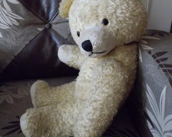 Vintage Old Teddy bear, 1950s, old charming and irresistible German vintage mohair bear with bakelite eyes