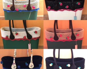 edge compatible for crohet obag bag rose crochet or crochet hook