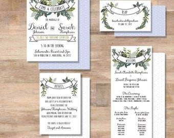 D+S Wedding Invitation Suite