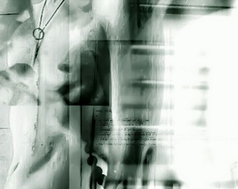Vessel - Abstract Art. Male torso Portrait in Blue. Figurative Wall Art. Fine Art Print. Dark Art. Hand signed. UK Artist. Drexll Studios