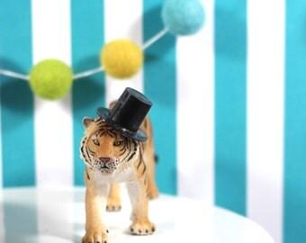 Carnival Birthday Cake Topper Tiger Circus Cake Topper Carnival Party Gold Animals Circus Birthday Cake Decor