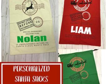 Santa Sack GIFT SACK Personalized Santa Sacks - Santa Gift Bags - Custom Santa Sacks