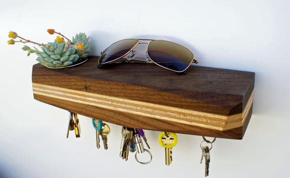 Big Urb: Modern Wall Mounted Succulent Planter and Magnetic Key Rack