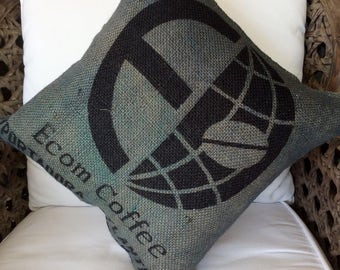 Up-cycled Coffee Bean Bag, Hemp Linen