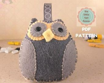 Felt Pattern-Felt Owl-Owl sewing pattern-Felt PDF Pattern-felt-Owl Pattern-Owl-Owl ornament-decor pattern