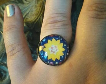 "vintage retro ""flower"" ring"