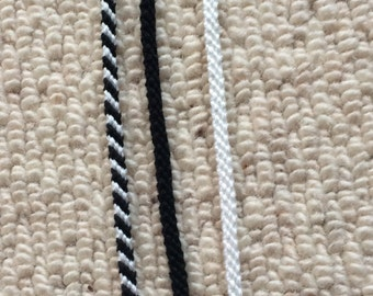Black and White Friendship Bracelet