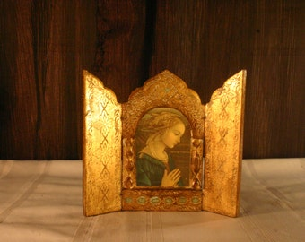 Foldable Wooden Painted Prayer Art - Free Shipping