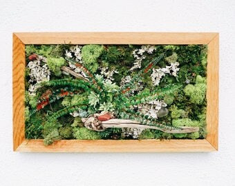 Driftwood and Faux Succulent Wall Hanging