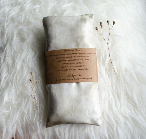 Herbal Eye Pillow, Sleep Eye Pillow, Aromatherapy Pillow, Yoga Eye Pillow, Organic Scented Eye Pillow,  Gift for Wife, Honeymoon Gift