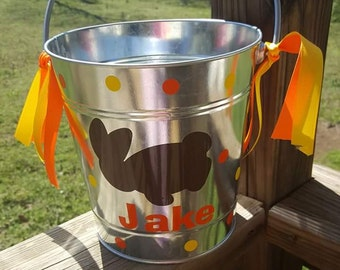 Metal Buckets Decorated