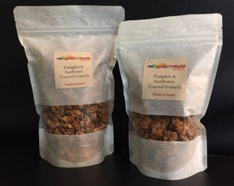 Toasted Granola, Dark Chocolate, Pumpkin & Sunflower, Sweet Cranberry Snack, Granola Snack, Chocolate Granola