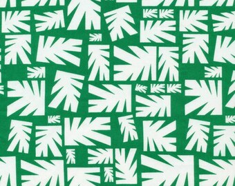 Leaves Green - Water Land - Cloud9 Fabrics - Organic Cotton - Poplin by the Yard