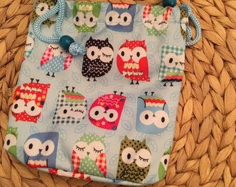 Owl Drawstring Bags, Pouches
