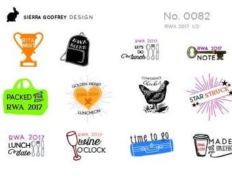 RWA 2017 Planner Stickers - writer stickers, planning stickers, bullet journal, Happy Planner, Erin Condren, Day Designer, RWA