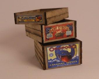 Miniature 1:12 Scale Crates Kit