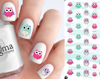 Owl Nail Decals - Vol I (Set of 48)
