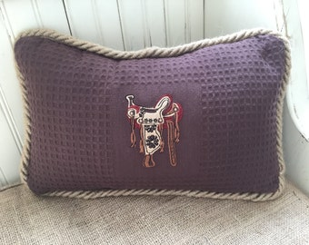 Western Saddle Stitched Pillow