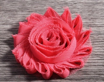 Chic Shabby Chiffon Flowers set of 2