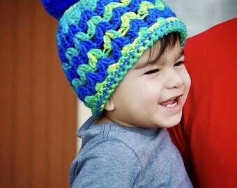 Neon beanie, neon colors, baby beanie, boy beanie, child beanie, neon child beanie, neon boy beanie, lime green beanie, blue beanie