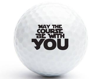 18 pcs May The Course Be With You Golf Balls - Father's Day Gift -  (GOLF-AZ144C)