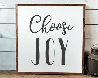 Choose Joy Sign, FREE SHIPPING, Joy Wood Sign, Joy Wooden Sign, Rustic Joy Sign, Joy Farmhouse Sign, Farmhouse Decor, Wooden Sign PS1017