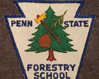 Penn State Forestry School  Patch / Badge Rare Vintage
