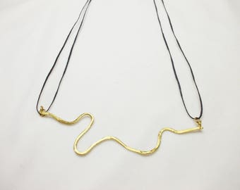 Handmade bronze necklace