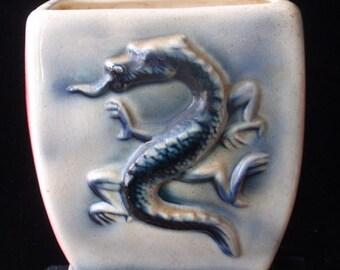 Vintage Ceramic Dragon Vase