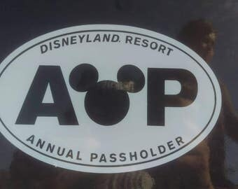 Disneyland Resort Passholder Car Decal