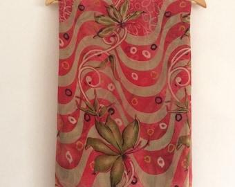 Free Shipping Vintage Floral Design Printed Fabric Curtain Drape Indian Saree VKEA133