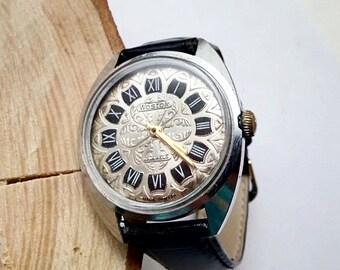 Vintage Soveit watch, VOSTOK 17  jewels  - USSR Men's Watch WOSTOK - 1950s, mens watch, mens watch, ussr mens watch, mechanical watch,