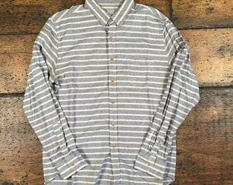 J Crew Striped Button Up Shirt Sz Large