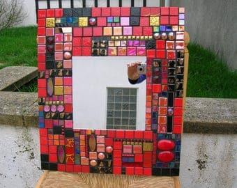 Mirror mosaic red black