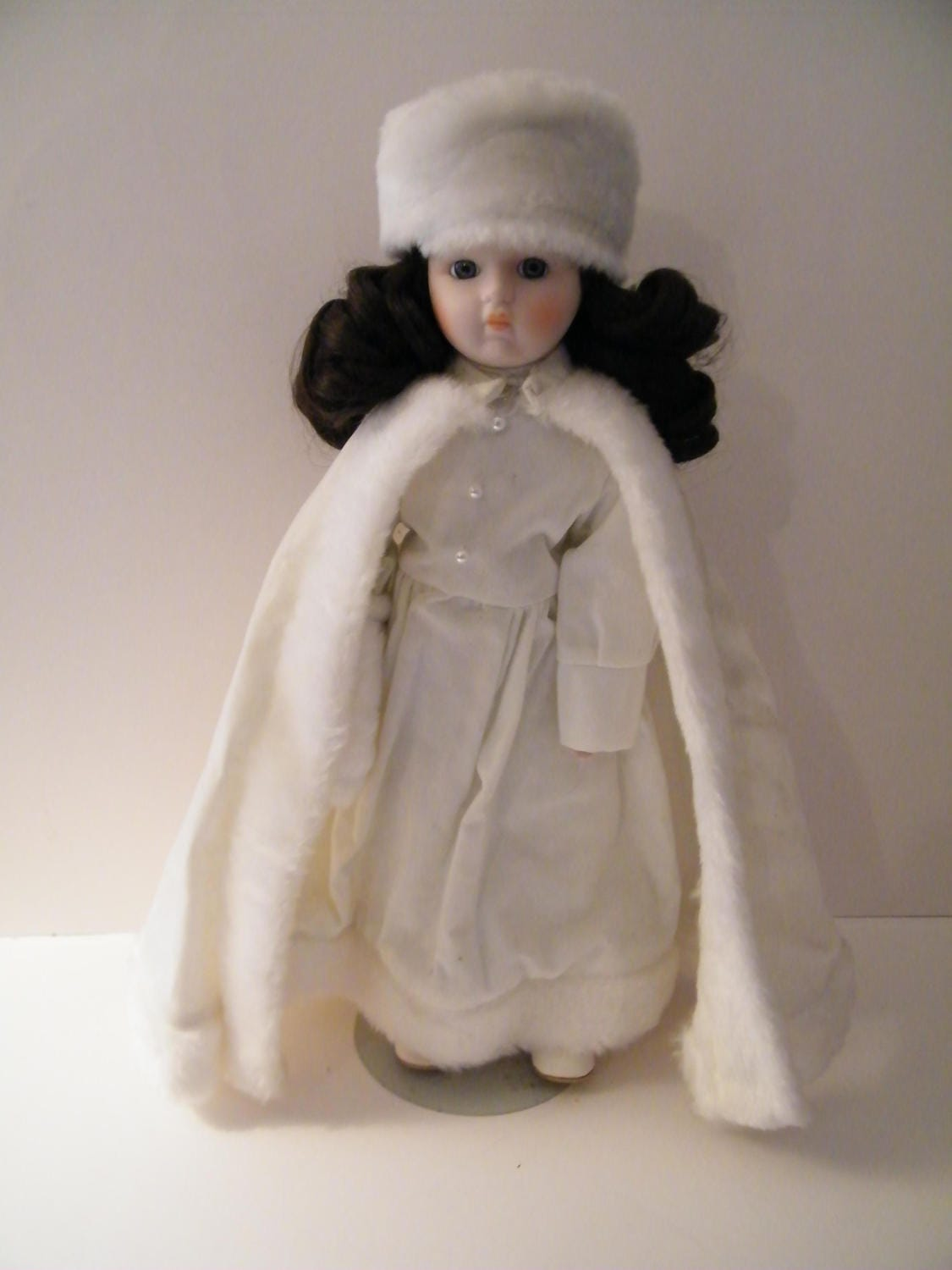 Used Doll From House Of Lloyd Porcelain Doll Vintage Winter