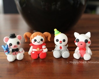 Five Nights At Freddy's: Sister Location Figures - Polymer Clay