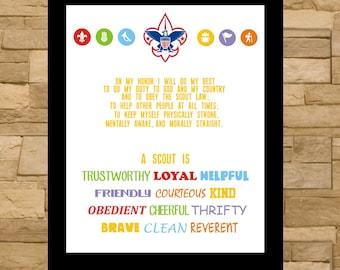 Cub/Boy Scout Oath and Law